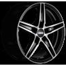 Fondmetal 8100 Negro Brillo y Pulido 6.5x16